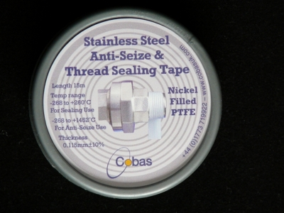 Stainless Steel anti-seize & thread sealing tape